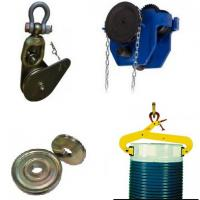 Trolleys, clamps, pulleys, sheaves