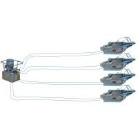 Troliu TU32H cu pompa electrica 4 ramuri