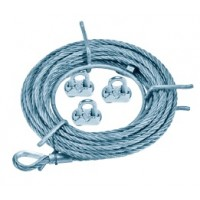 Kit start linia vietii cu cablu galvanizat
