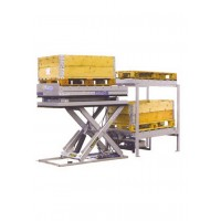 U-shaped platform with roller conveyor