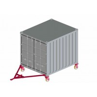 Echipament cu roti pentru mutarea containerelor