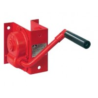 Hand rope winch, capacity 400 kg, for wall mounting