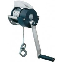 Hand rope winch, capacity 300 kg, with fix crank, without rope