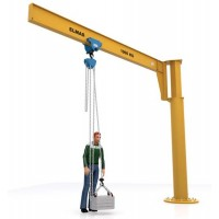 Slewing jib crane 500 kg with manual chain hoist